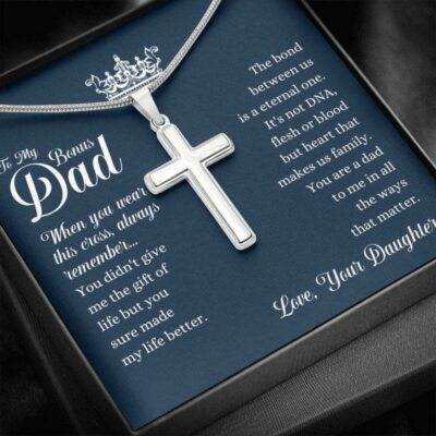 Dad Necklace, Bonus Dad Fathers Day Gift Necklace From Daughter, Thank You Gift, Stepdad Gift
