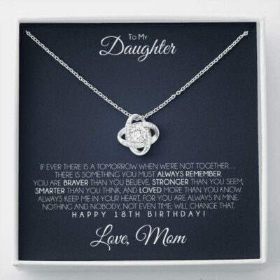 Daughter Necklace, Daughter's 18th Birthday Necklace, To My Daughter 18th Birthday Gift From Mom