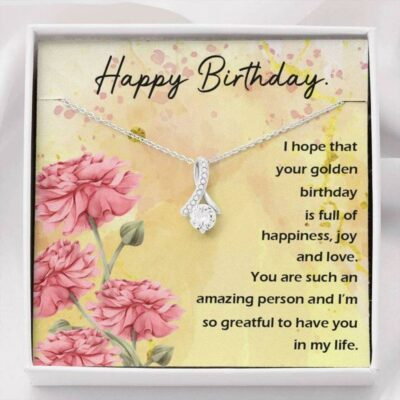 Happy Birthday Golden Alluring Beauty Necklace Gift