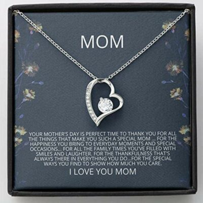 Mom Necklace Gift – Mother In Law Gift, Son Gift To Mom Necklace